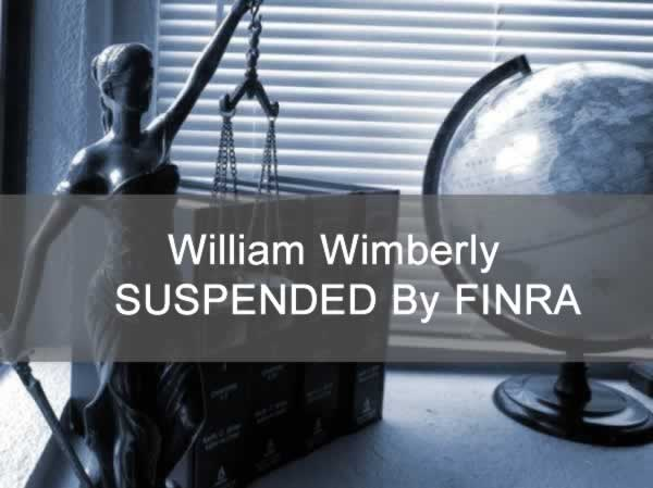 William Wimberly (Jackson, MS) SUSPENDED By FINRA