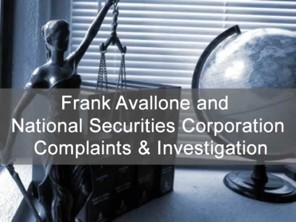 Frank Avallone and National Securities Corp