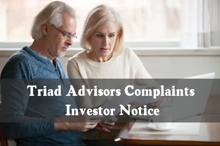 Triad Advisors Complaints