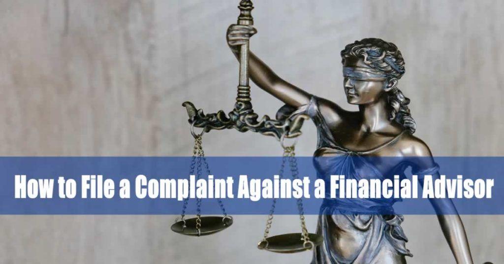 Can you sue your financial advisor?